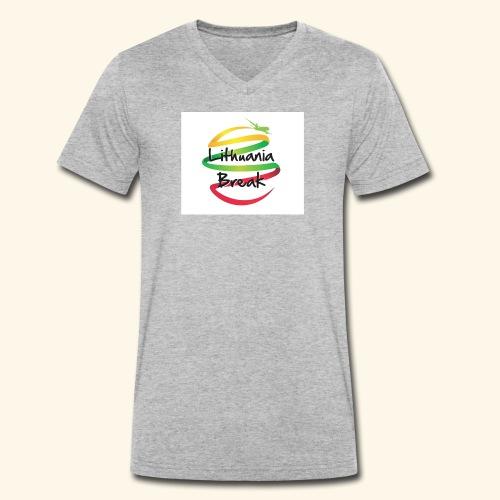 Lithuania Break - Men's Organic V-Neck T-Shirt by Stanley & Stella