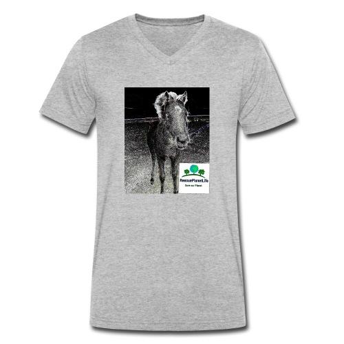 RescuePlanetLife Pferd-Design - Männer Bio-T-Shirt mit V-Ausschnitt von Stanley & Stella