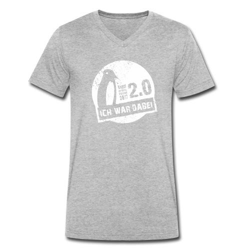 Logo 1 weiss - Männer Bio-T-Shirt mit V-Ausschnitt von Stanley & Stella