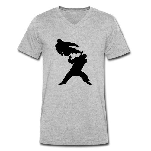 Jump kick - Stanley & Stellan miesten luomupikeepaita