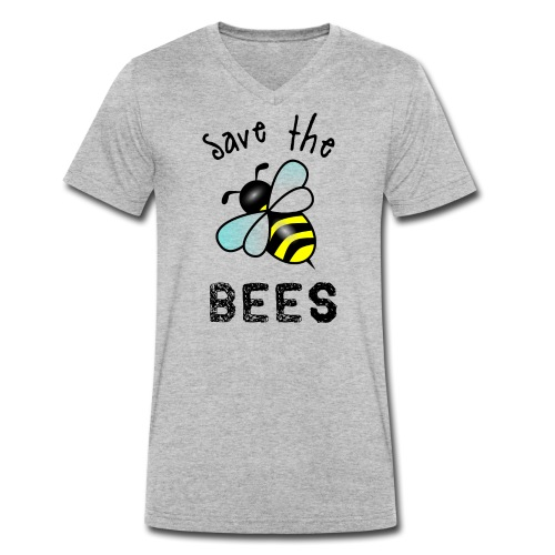 Bees4 - save the bees | Book Rebels - Men's Organic V-Neck T-Shirt by Stanley & Stella