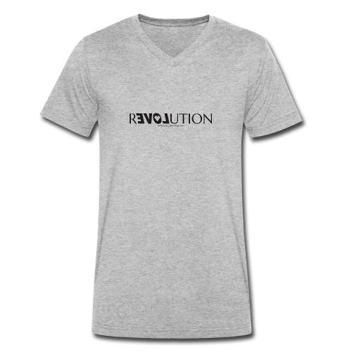 ReLOVEution Shirt – schwarz - Männer Bio-T-Shirt mit V-Ausschnitt von Stanley & Stella