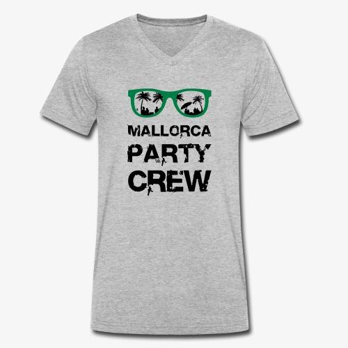 Mallorca Party Crew - Männer Bio-T-Shirt mit V-Ausschnitt von Stanley & Stella