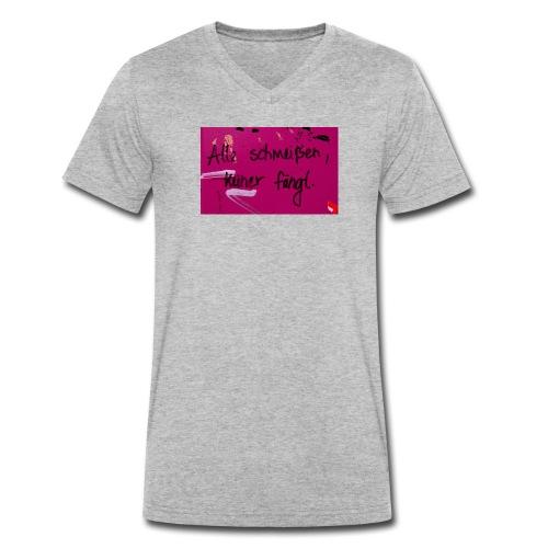 Alle schmeißen, keiner fängt. - Männer Bio-T-Shirt mit V-Ausschnitt von Stanley & Stella