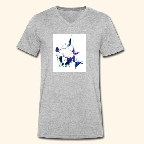 How much is the Shark? - Männer Bio-T-Shirt mit V-Ausschnitt von Stanley & Stella