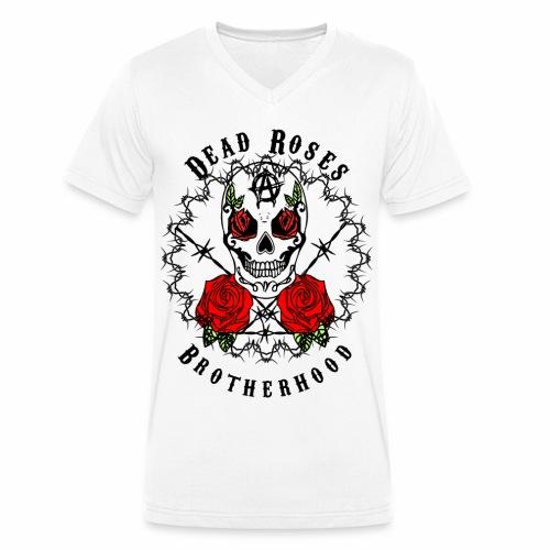Dead Roses 2nd Logo - Men's Organic V-Neck T-Shirt by Stanley & Stella
