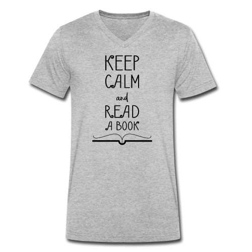 0275 Keep calm and read a book - Men's Organic V-Neck T-Shirt by Stanley & Stella