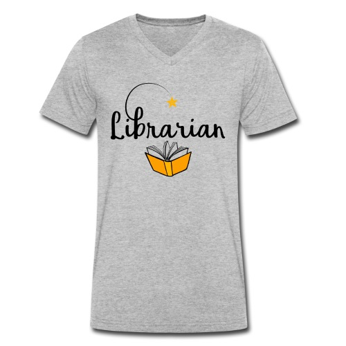 0326 Librarian & Librarian - Men's Organic V-Neck T-Shirt by Stanley & Stella