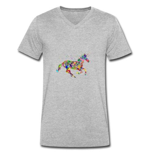 Einhorn - Männer Bio-T-Shirt mit V-Ausschnitt von Stanley & Stella