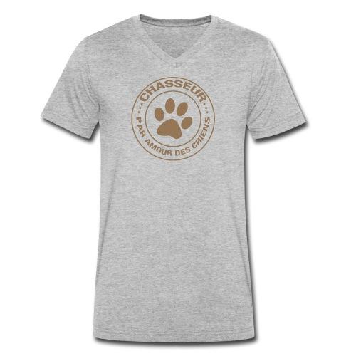 Chasseur par amour des chiens - T-shirt bio col V Stanley & Stella Homme