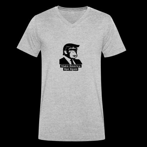 Make America Ape Again - Männer Bio-T-Shirt mit V-Ausschnitt von Stanley & Stella