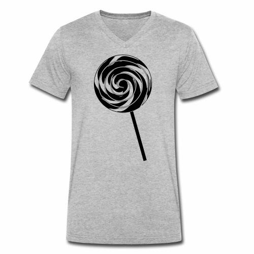 Retro Lolly - Männer Bio-T-Shirt mit V-Ausschnitt von Stanley & Stella
