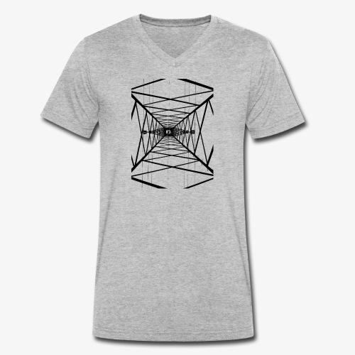 Hochmast V2 Schwarz - Männer Bio-T-Shirt mit V-Ausschnitt von Stanley & Stella
