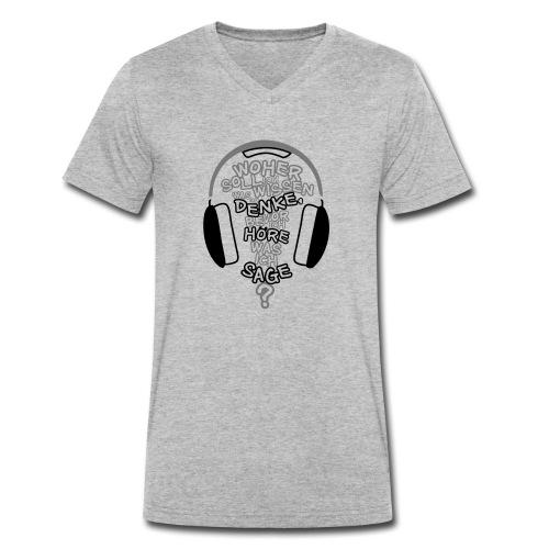 Woher wissen ...? - Männer Bio-T-Shirt mit V-Ausschnitt von Stanley & Stella