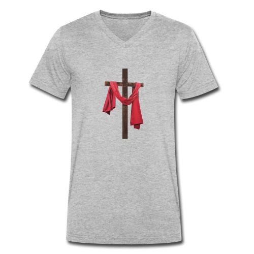 iglesia diseño jesus - Camiseta ecológica hombre con cuello de pico de Stanley & Stella