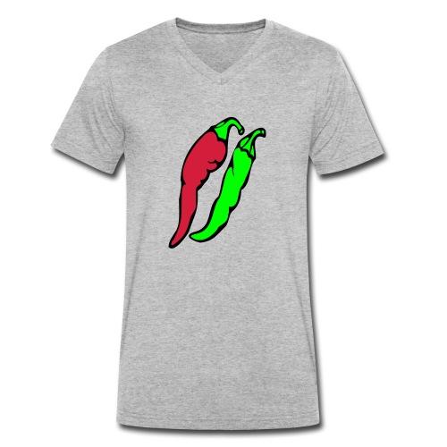 Chilli - Ekologiczna koszulka męska z dekoltem w serek Stanley & Stella