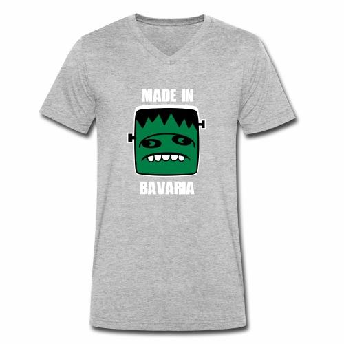 Fonster weiß made in Bavaria - Männer Bio-T-Shirt mit V-Ausschnitt von Stanley & Stella
