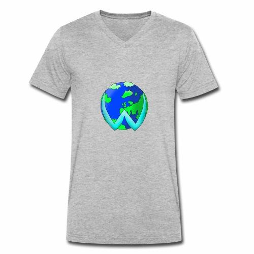 wister mundo - Camiseta ecológica hombre con cuello de pico de Stanley & Stella