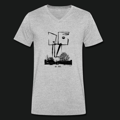 dc10_Logo_black-ok - Männer Bio-T-Shirt mit V-Ausschnitt von Stanley & Stella