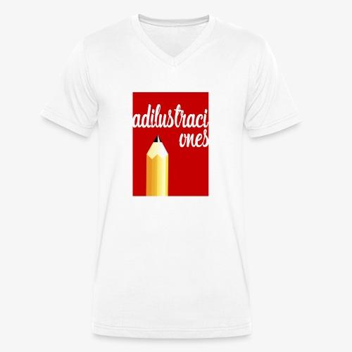 Ad ilustraciones Rojo - Camiseta ecológica hombre con cuello de pico de Stanley & Stella