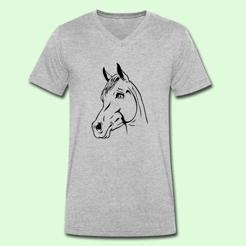 tête de cheval - T-shirt bio col V Stanley & Stella Homme