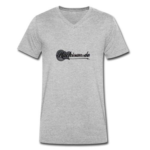 Kapuzenpullover - Unisex - s/g - Hackisan-Logo - Männer Bio-T-Shirt mit V-Ausschnitt von Stanley & Stella