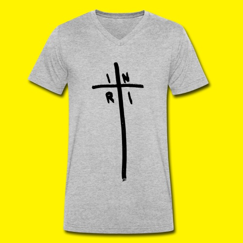 Cross - INRI (Jesus of Nazareth King of Jews) - Men's Organic V-Neck T-Shirt by Stanley & Stella
