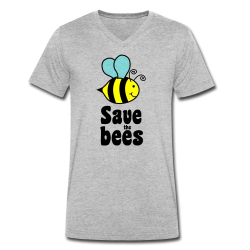 Bees9 - save the bees | Bees protect flowers - Men's Organic V-Neck T-Shirt by Stanley & Stella