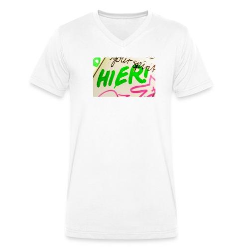 HIER! - Männer Bio-T-Shirt mit V-Ausschnitt von Stanley & Stella