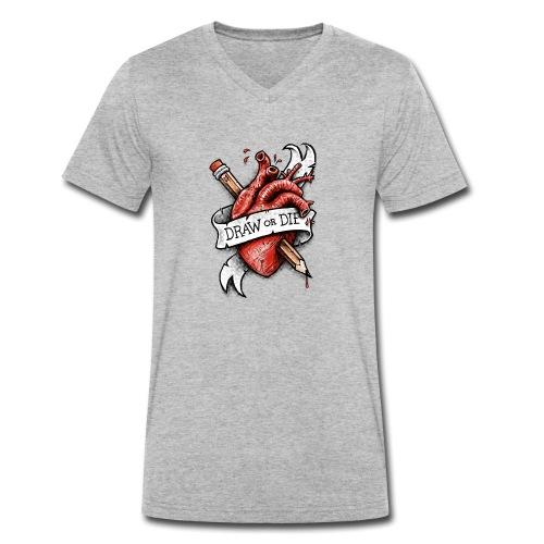 Draw or Die - Men's Organic V-Neck T-Shirt by Stanley & Stella
