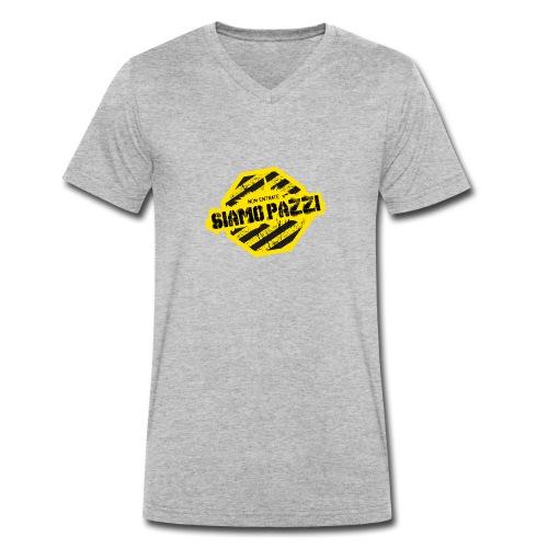 Non Entrate Siamo Pazzi - T-shirt ecologica da uomo con scollo a V di Stanley & Stella