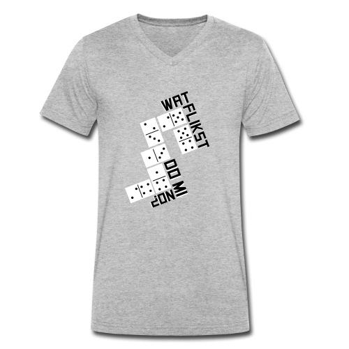 Domino - Mannen bio T-shirt met V-hals van Stanley & Stella