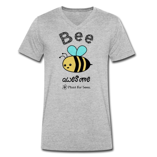 Bees2 - Protect the bees - Men's Organic V-Neck T-Shirt by Stanley & Stella