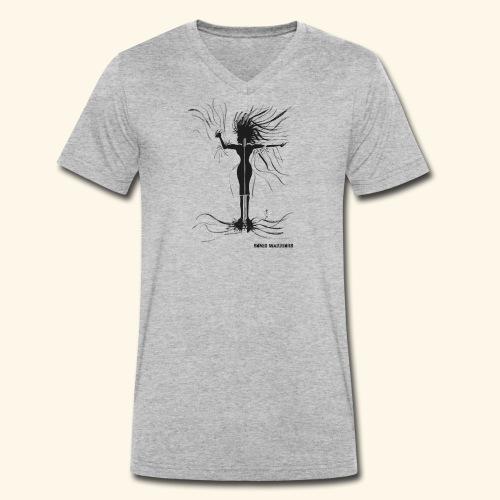 Shaka, Female Singer - Men's Organic V-Neck T-Shirt by Stanley & Stella