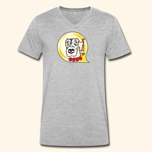 Osso4Friends official logo - T-shirt ecologica da uomo con scollo a V di Stanley & Stella