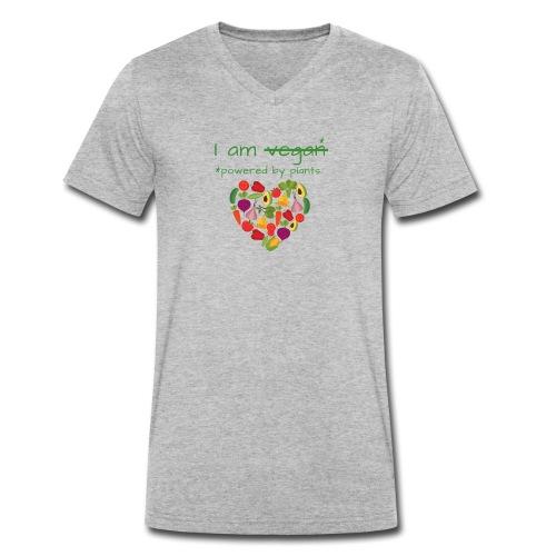I am powered by plants || vegan vegetarian - Männer Bio-T-Shirt mit V-Ausschnitt von Stanley & Stella