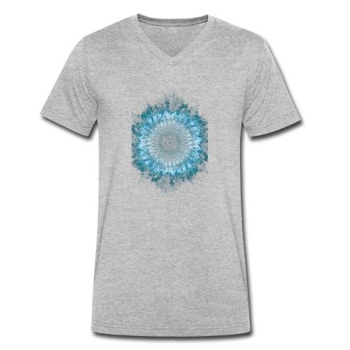 Indigo Blau Mandala - Männer Bio-T-Shirt mit V-Ausschnitt von Stanley & Stella