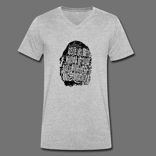 Fingerprint DNA (black) - Men's Organic V-Neck T-Shirt by Stanley & Stella