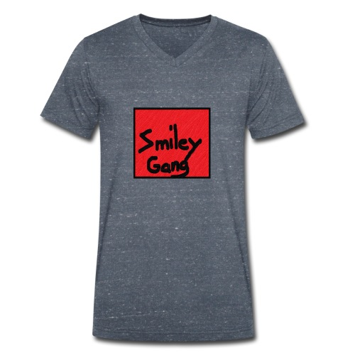 Smileygang - Økologisk T-skjorte med V-hals for menn fra Stanley & Stella