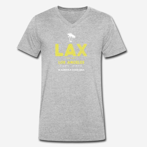 LAX è una buona idea!! - T-shirt ecologica da uomo con scollo a V di Stanley & Stella