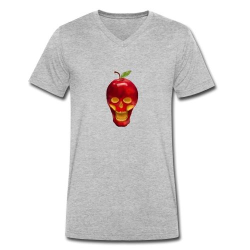 Apple Skull - Männer Bio-T-Shirt mit V-Ausschnitt von Stanley & Stella