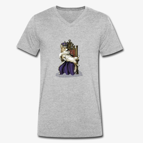 Queen Corgi - Men's Organic V-Neck T-Shirt by Stanley & Stella