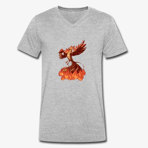 Phoenix Tea - Men's Organic V-Neck T-Shirt by Stanley & Stella