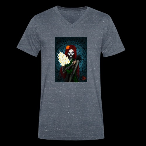 Death and lillies - Men's Organic V-Neck T-Shirt by Stanley & Stella
