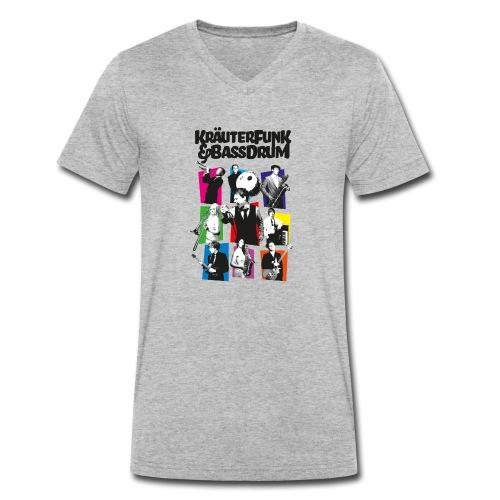 Kräuter-Band - Männer Bio-T-Shirt mit V-Ausschnitt von Stanley & Stella