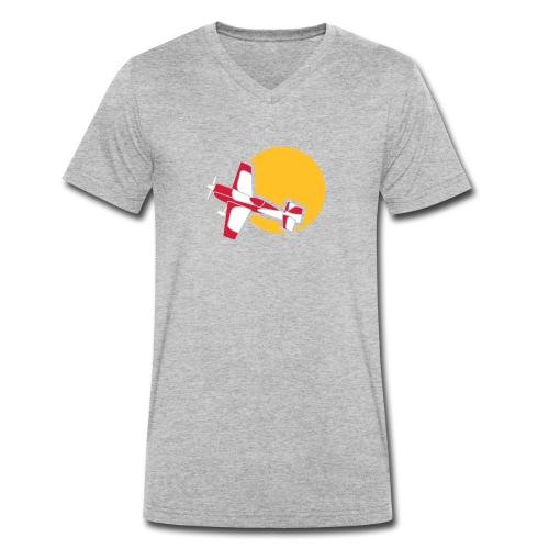 Flugzeug Jet Airplane Sky Himmel Sun Sonne Sport - Männer Bio-T-Shirt mit V-Ausschnitt von Stanley & Stella