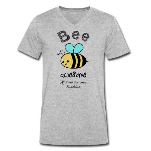 Bees2-1 Schützt die Bienen - Men's Organic V-Neck T-Shirt by Stanley & Stella