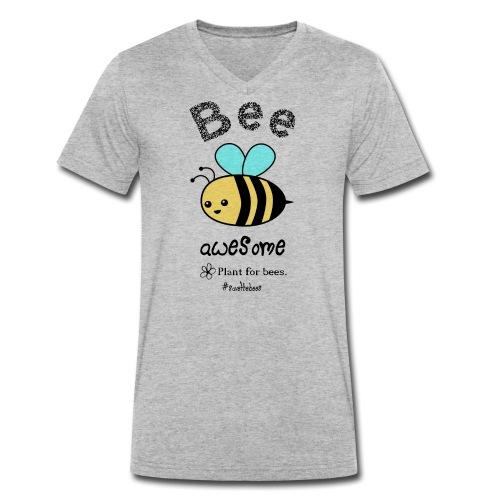 Bees2-2 Schützt die Bienen - Men's Organic V-Neck T-Shirt by Stanley & Stella