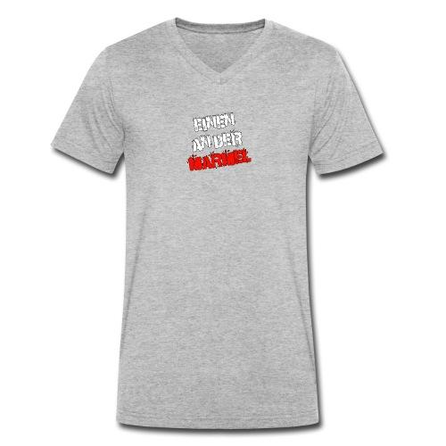 Einen an der Marmel - Schriftzug - Männer Bio-T-Shirt mit V-Ausschnitt von Stanley & Stella