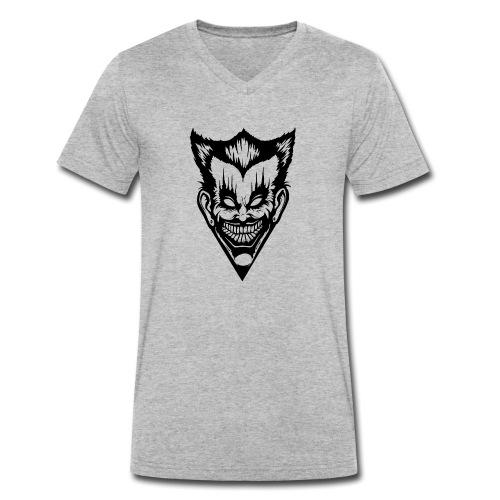 Horror Face - Männer Bio-T-Shirt mit V-Ausschnitt von Stanley & Stella